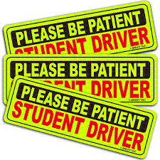 Anley Please Be Patient Student Driver Wall Decal Wayfair