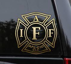 Iaff Firefighter Decal Sticker