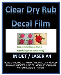 Decal Paper Home Printing Of Hand Made Products Water Slide Paper Mr Decal Paper