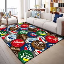 Nordic Personality Beer Caps Carpets Kids Room Mat Home Decorative Bedroom Rug Carpet Soft Flannel Living Room Area Rugs Carpet Aliexpress