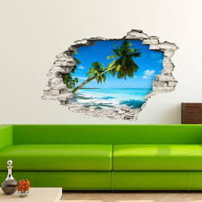 Palms On White Sand Beach 3d Decals Touch Of Modern