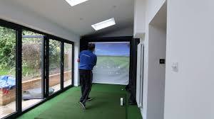 home golf simulator enclosure with