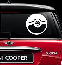 Pokeball Vinyl Decal Sticker Hand Made With Durable Outdoor Quality Vinyl Can Be Applied To Any Smooth Surface Such A Truck Window Stickers Vinyl Vinyl Decals
