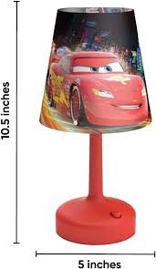 Amazon Com Philips Disney Cars Indoor Portable 10 Inch Kids Table Lamp With Shade Red Home Kitchen