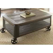 modern brown lift top coffee table with