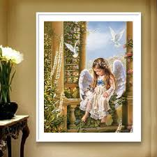 Buy European Figure Painting Decorative Painting Wood Angel Girl Kindergarten Children 39 S Room Kids Room Wall Painting Paintings In Cheap Price On M Alibaba Com