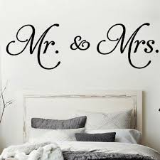 Diy Wall Sticker Mr Mrs Wall Decal Living Room Bedroom Decoration Home He8y For Sale Online Ebay