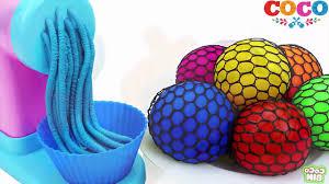 Học màu với bóng slime - bóng đồ chơi nhiều màu sắc cho bé - YouTube