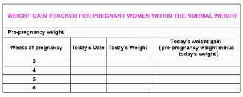 pregnancy weight tracker stuff4tots