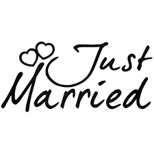 Just Married Vinyl Decal Sticker