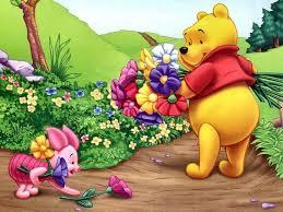 8x10 Winnie Pooh Piglet Flowers Dark Fab Iron On Transfer | Etsy