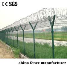 Green Vinyl Coated Galvanized Welded Y Type Post Wire Mesh Farm Fence With Barbed Wire China Fencing Pvc Coated Made In China Com