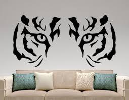 Tiger Wall Sticker Animal Vinyl Decal Predator Stickers Etsy