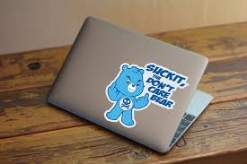 Suck It The Don T Care Bear Printed Vinyl Decal Azvinylworks