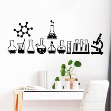 Science Wall Sticker Laboratory Decor Science Is Cool Vinyl Decals Mural Geek Wall Art Decals Bedroom Chemistry Poster Sticker Wish