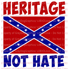 18 Heritage Not Hate Vinyl Decal Sticker With Lilbitolove