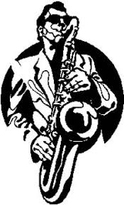 Design Your Own Graphic General Man Playing Saxophone Vinyl Decal Customized On Line