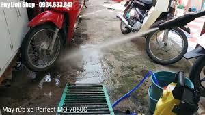 Test Máy xịt rửa xe cao áp Perfect MO-7050C - YouTube