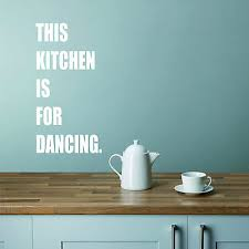 This Kitchen Is For Dancing Wall Art Decal Sticker Vinyl Decor Kitchen Dining Ebay