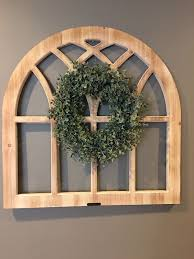magnolia home arched wood window wall
