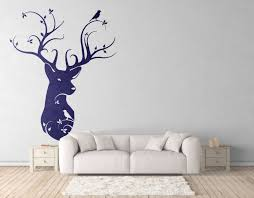 Naturalist Style Deer Head Wall Decals For Magical Minds Nature Birds Home Decor Interior Design Mystic Collection