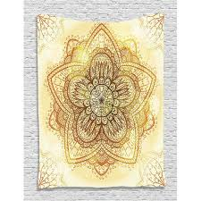 Hippie Tapestry Mandala Decor By Ethnic Doodle Design Asian Art Traditional Pattern Bedroom Living Kids Girls Boys Room Dorm Accessories Wall Hanging Tapestry Hippie By Ambesonne Walmart Com Walmart Com