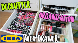 organize ikea alex drawers