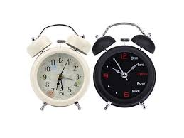 Small Retro Digital Alarm Clock Dial Number Round Double Bell Needle Clock Table Clock For Kids Room Home Decoration Newegg Com