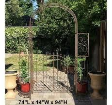 arch wedding arbor kit wrought iron