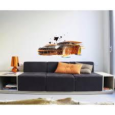 Shop Stylish Car Mancave Polygonal Wall Decal Boys Room Nursery Wall Art Sticker Overstock 31820795