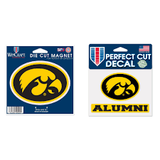 Iowa Hawkeyes Official Ncaa Die Cut Car Magnet And Die Cut Car Decal Bundle 2 Items Walmart Com Walmart Com