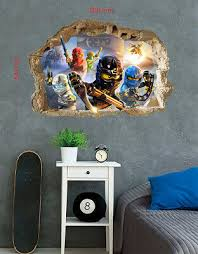 Lego Wall Stickers Ninjago Vinyl Home Mural Decal Art Mural Decor Kids 54x80cm Ebay