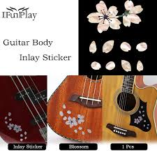Diy Flower Guitar Body Inlay Sticker For Acoustic Guitar Ukulele Bass Electric Guitar Decal Guitar Pickguard Blossom Decals Guitar Parts Accessories Aliexpress