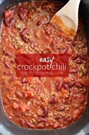 easy crockpot chili family fresh meals