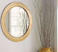 gold leaf wall mirror pottery barn