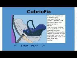 maxicosi cabriofix installation you