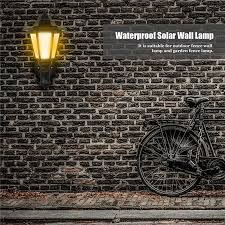 Solar Powered Retro Vintage Wall Lantern Light Led Street Lamp Waterproof Sconces White Warm White Home Outdoor Garden Fence Decoration Landscape Lazada Ph