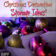 christmas decoration storage ideas and