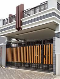 11 Excellent Choices Of Modern Fences Design With Images House Gate Design Gate Designs Modern Entrance Gates Design