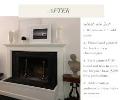 red brick fireplace makeover renovation