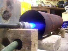 foundry furnace burner as garage heater