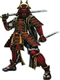 Amazon Com Red And Black Japanese Warrior Samurai Vinyl Decal Sticker 4 Tall Arts Crafts Sewing