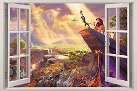 Lion King Simba 3d Window View Decal Graphic