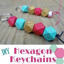 diy hexagon bead keychains our