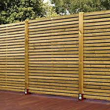 Green Contemporary Timber Fence Panel W 1 79mm H 1 793mm Pack Of 3 Departments Diy At B Q Fence Panels Slatted Fence Panels Timber Fence Panels