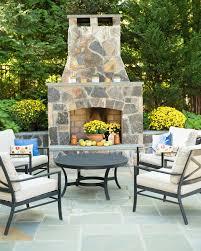 arlington va patio fireplace