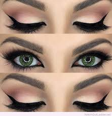 cute makeup styles for green eyes