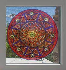 Amazon Com Fire Element Mandala Astrology Tarot See Through Vinyl Window Decal Yadda Yadda Design Co Variations Avail Lg 7 5 Dia Fire Arts Crafts Sewing
