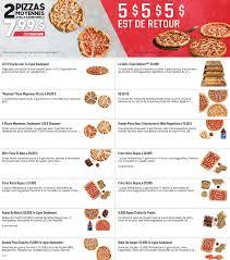 pizza hut menu et coupon rabais