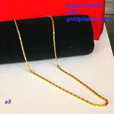 real looking 22 ct gold plated chain